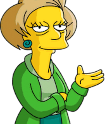 A picture of the character Edna Krabappel - Years: 1990, 1991, 1992, 1993, 1994, 1995, 1996, 1997, 1998, 1999, 2000, 2001, 2002, 2003, 2004, 2005, 2006, 2007, 2008, 2009, 2010, 2011, 2012, 2013