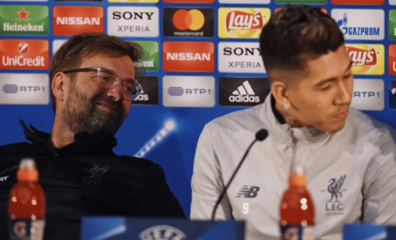 Jurgen Klopp and Roberto Firmino's pre-Porto press conference