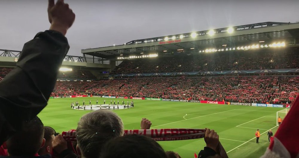 Liverpool fans' incredible rendition of YNWA vs City at Anfield – Video