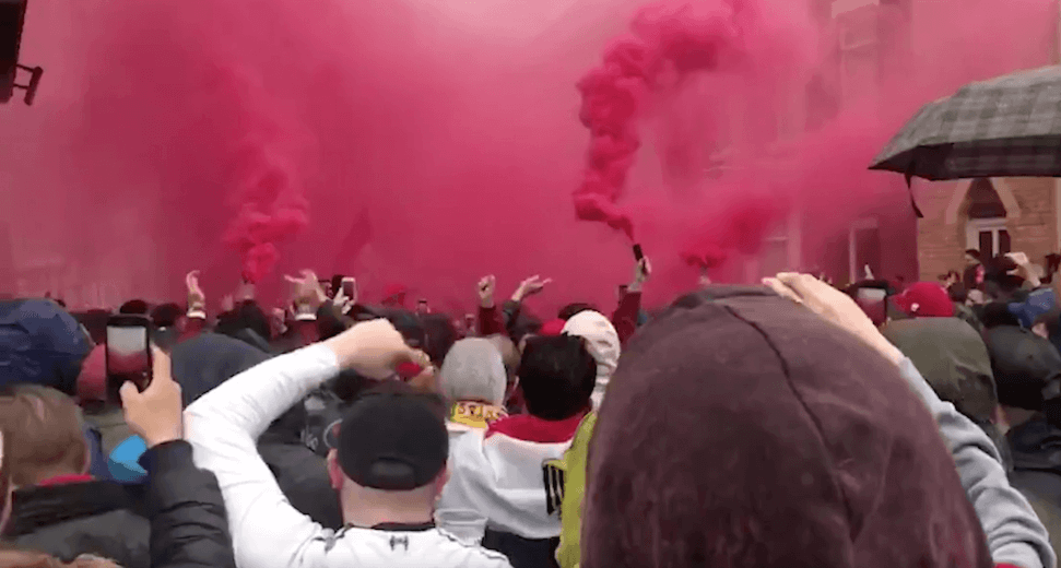 Atmosphere builds around Anfield ahead of LFC v Roma (Videos)