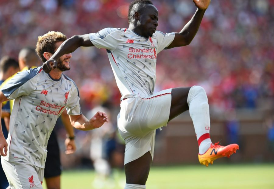 Liverpool and Man United level at the break as Mané converts penalty (Video)