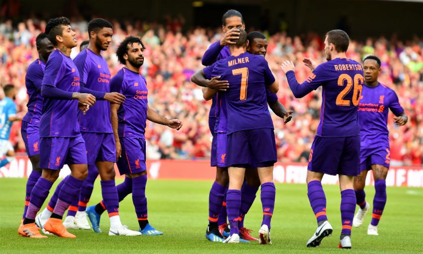 Liverpool 5-0 Napoli – Highlights: Reds ease to win in penultimate pre-season clash (Video)