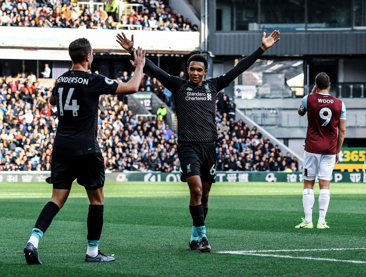 EPL: Liverpool stay top with club record-breaking win at Burnley