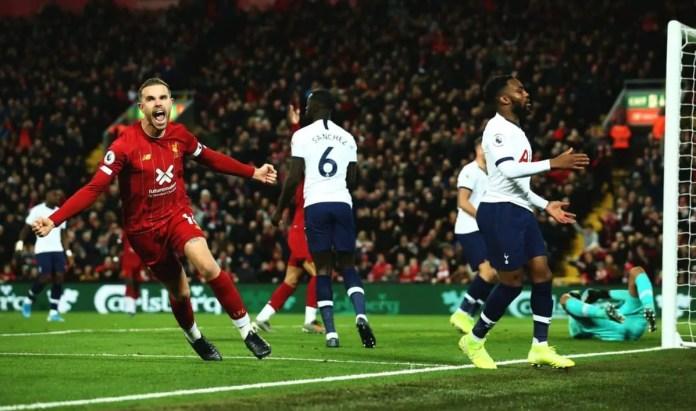 Liverpool vs Tottenham Goals