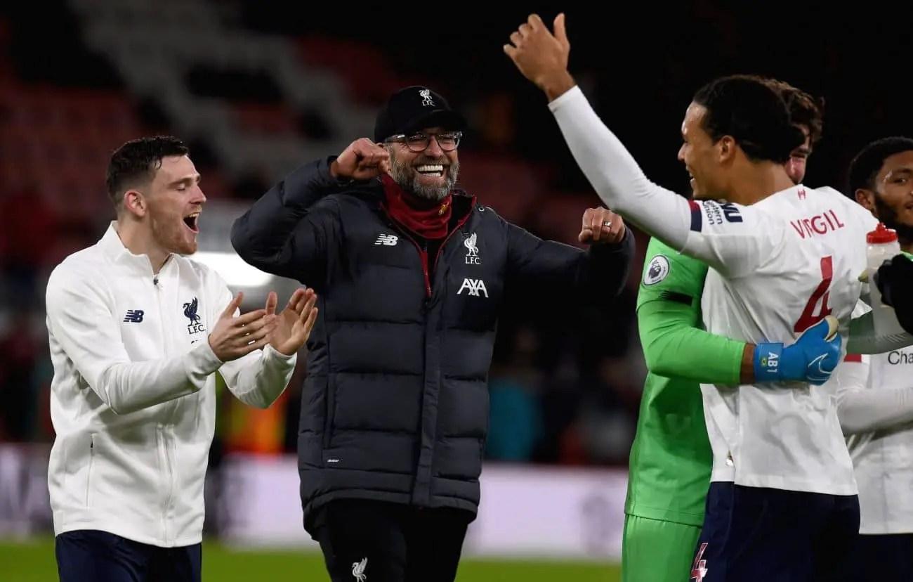 "Jurgen Klopp praises ""special"" Liverpool side after 3-0 Bournemouth win"