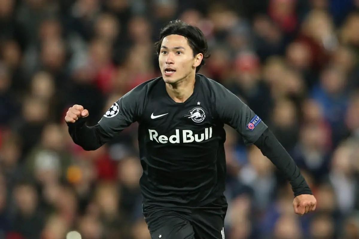 Liverpool agree £7.25million deal in principle for Salzburg star Takumi Minamino