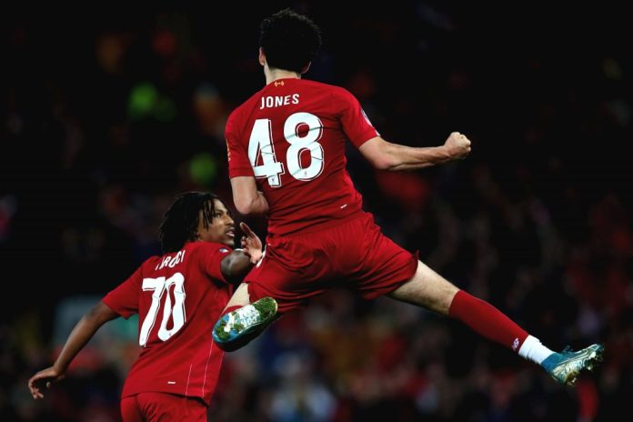 Curtis Jones Goal vs Everton