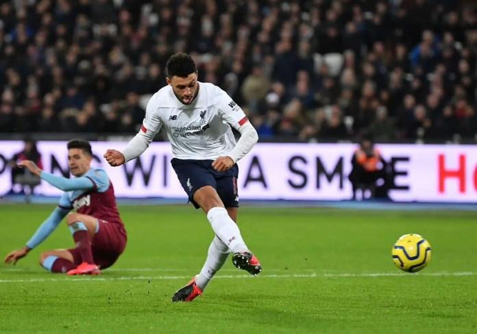Oxlade-Chamberlain Goal vs West Ham
