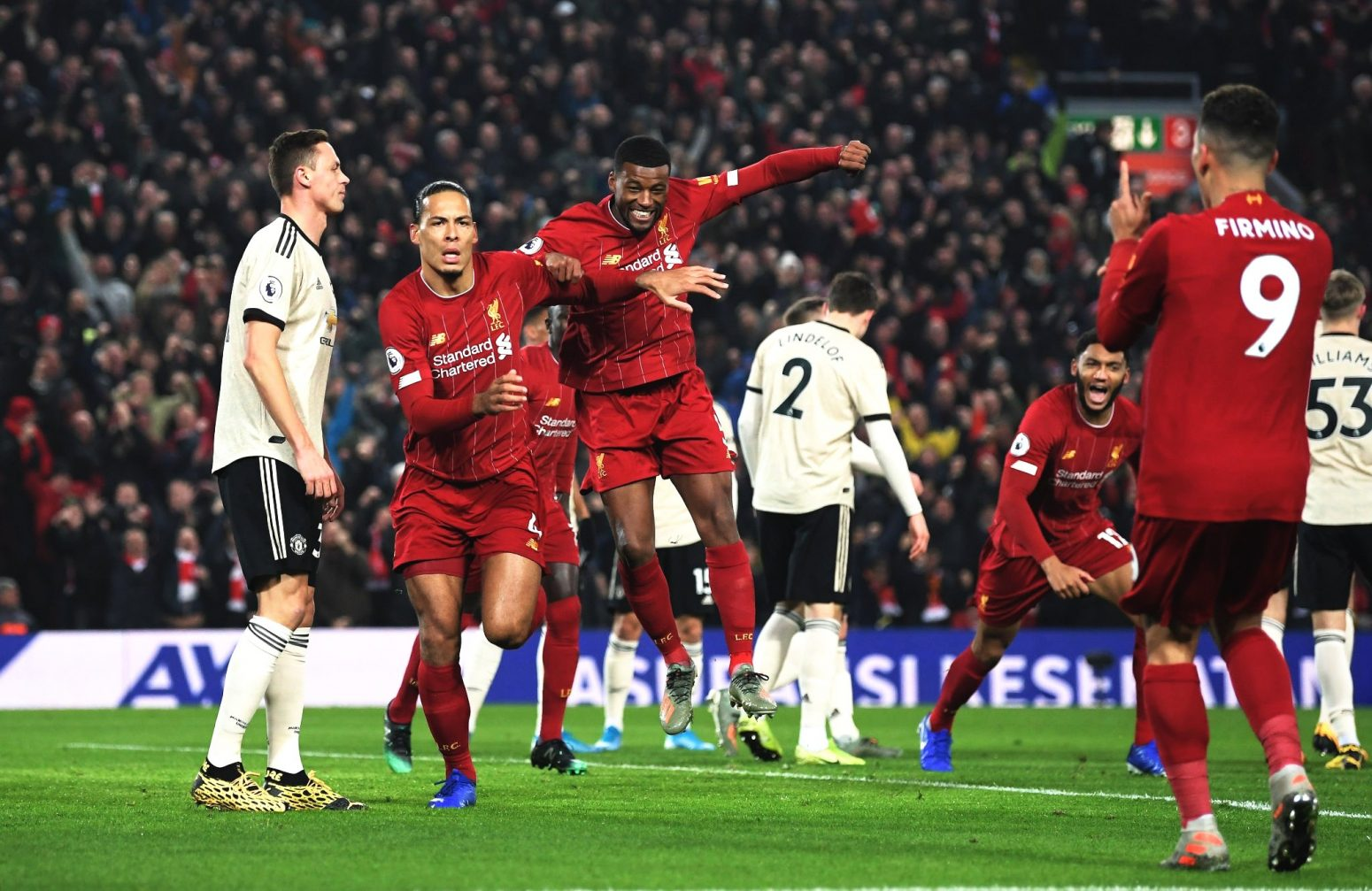 Liverpool 2-0 Man United – Highlights and Goals (Video)