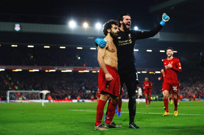 Salah and Alisson
