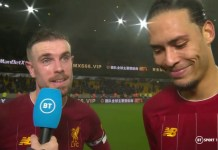Jordan Henderson and Virgil van Dijk