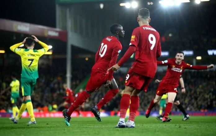 Norwich 0-1 Liverpool