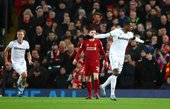 Liverpool vs West Ham Goals