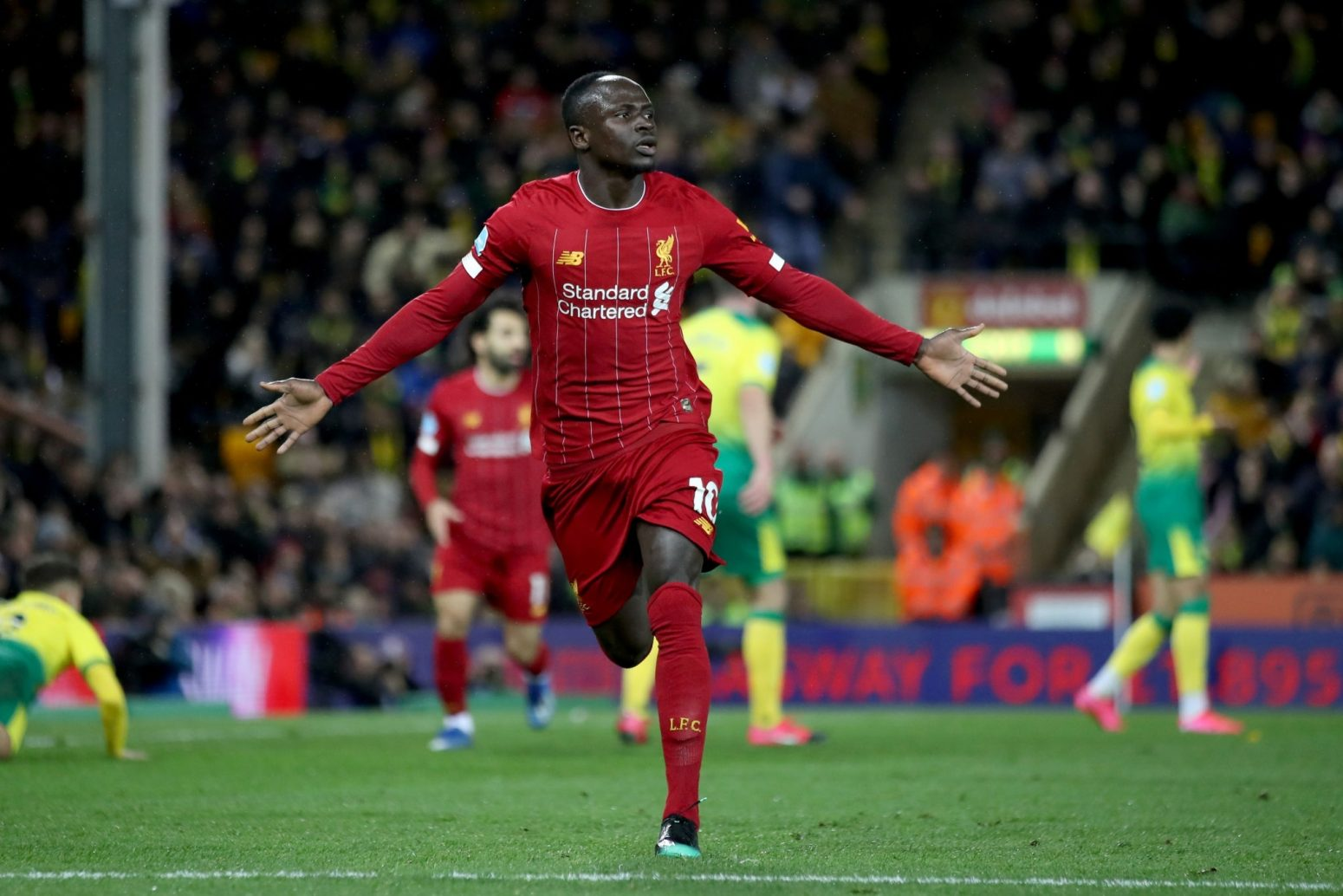 The best photos as super-sub Mane gives Liverpool 1-0 win over Norwich