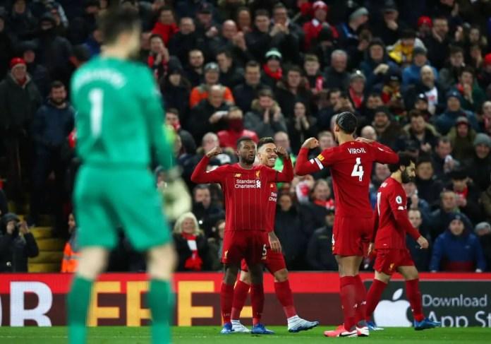 Gini Wijnaldum Goal vs West Ham