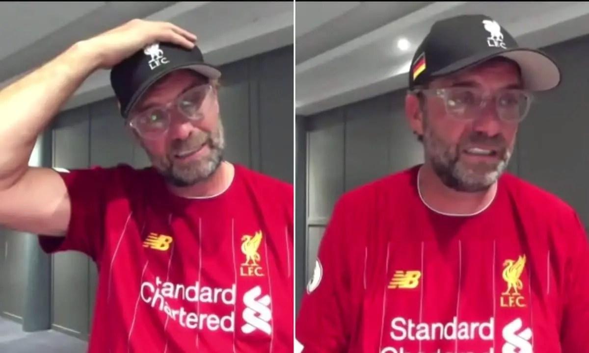 Jurgen Klopp's emotional interview as Liverpool lift maiden Premier League title