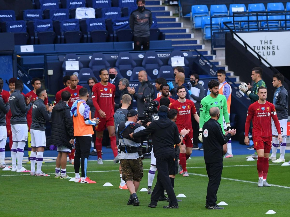 Watch: Man City players give Liverpool's title-winners guard of honour at Etihad