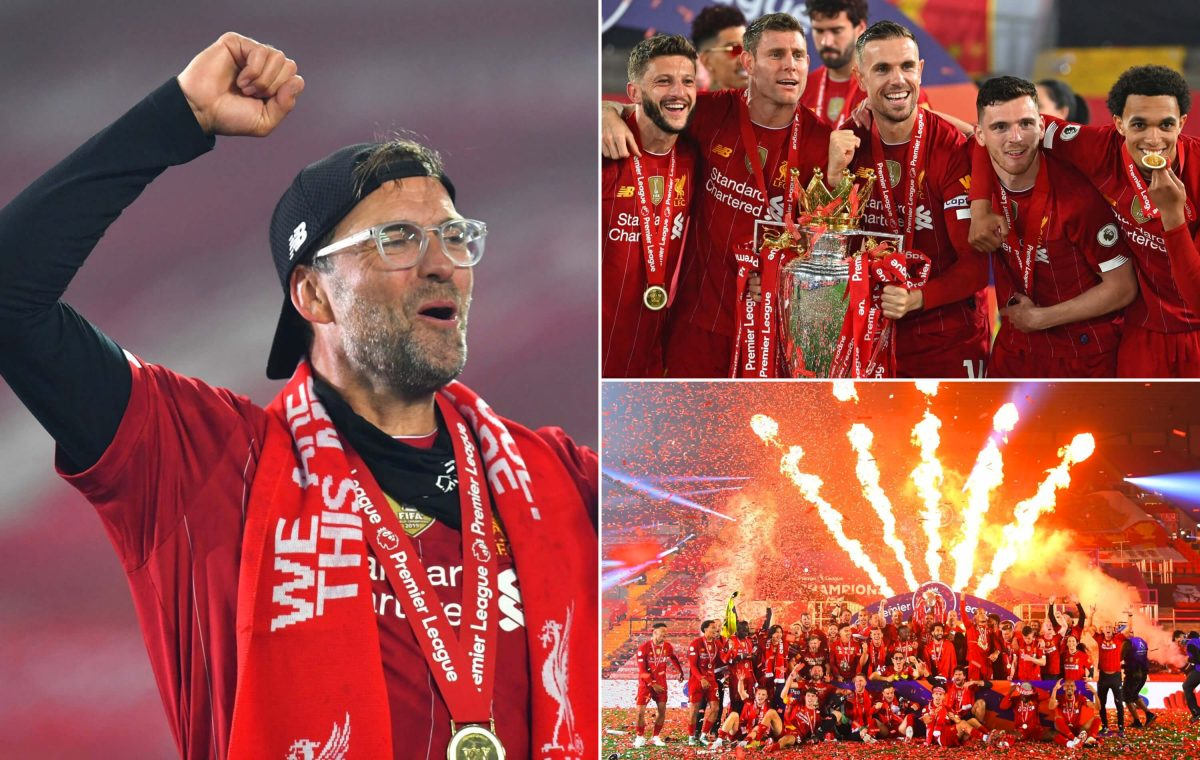 The best photos from Anfield as Liverpool lift Premier League trophy