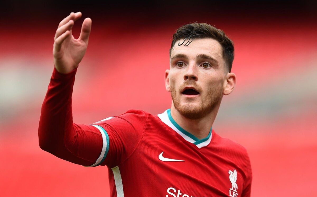 Andy Robertson embracing competition from new Liverpool left-back Kostas Tsimikas