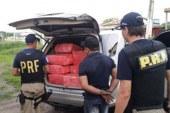 Polícia apreende veículo com meia tonelada de maconha no porta-malas na BR-116