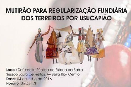 Prefeitura de Lauro de Freitas promove mutirão para regularização fundiária dos Terreiros de Candomblé