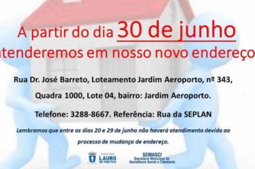 Secretaria de Assistência Social de Lauro de Freitas mudará de endereço