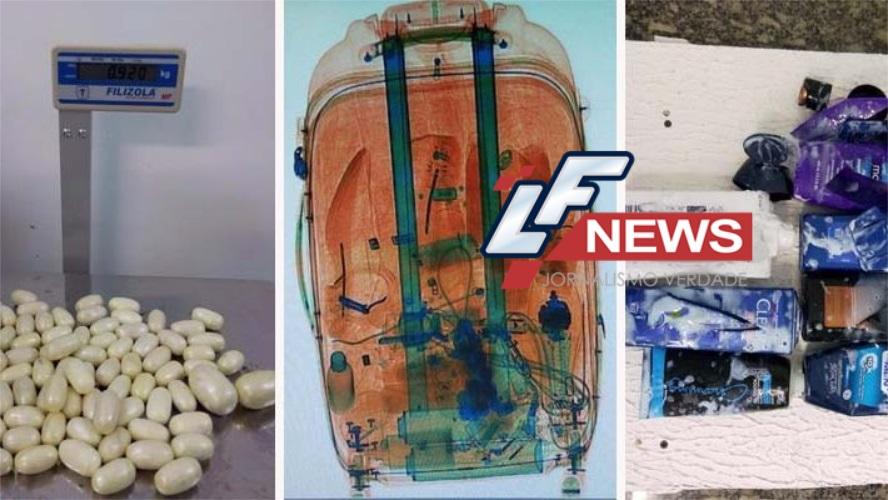 Passageiro é preso após tentar embarcar com cocaína no aeroporto