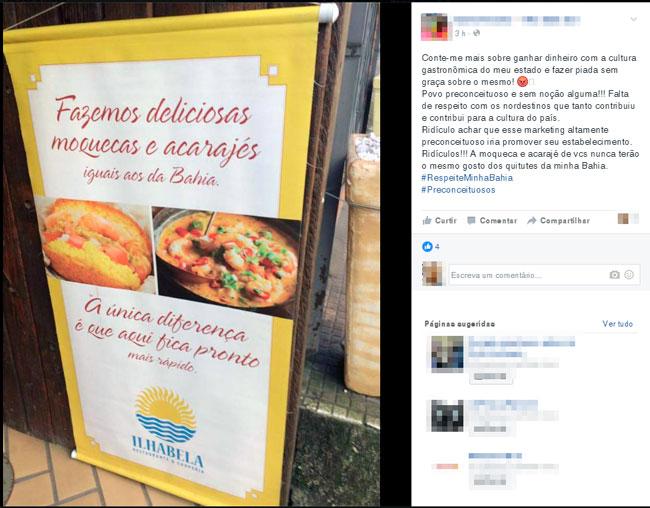 Restaurante de SP insinua que baiano é lento e gera revolta