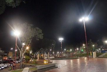 Praça da Matriz recebe nova iluminação