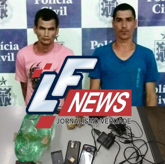 Homens são flagrados jogando drogas e celulares para presos na delegacia