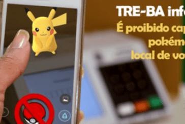 Pokémon Go está proibido dentro da cabina de votação