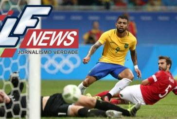 Salvador dá sorte e Brasil goleia Dinamarca e se classifica para as quartas no futebol masculino