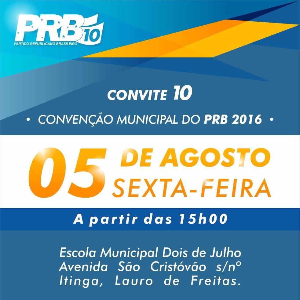 PRB de Lauro de Freitas realiza convenção nesta sexta, 05