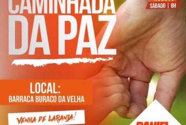 Topeira convida para a 3ª caminhada da PAZ, neste sábado em Vilas