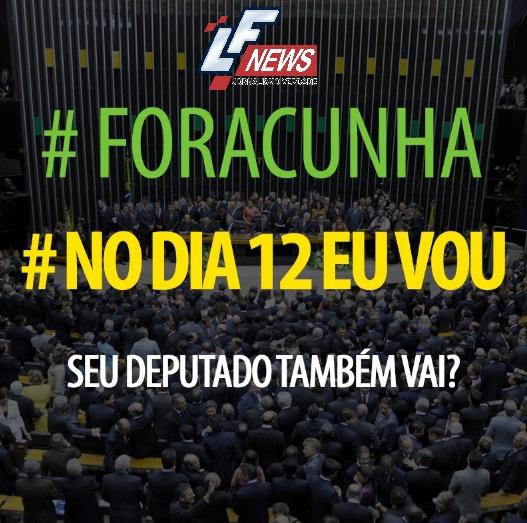 Deputados fazem campanha pela cassação de Eduardo Cunha
