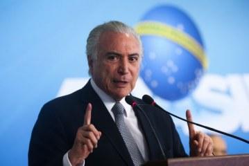 Temer: 'o Brasil está caminhando, apesar de alguns pretenderem parar nosso País'