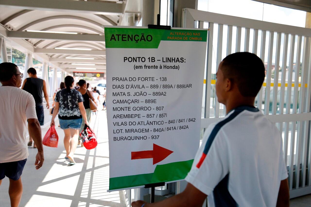 Usuários do metrô de Lauro de Freitas aprovam novo ponto provisório
