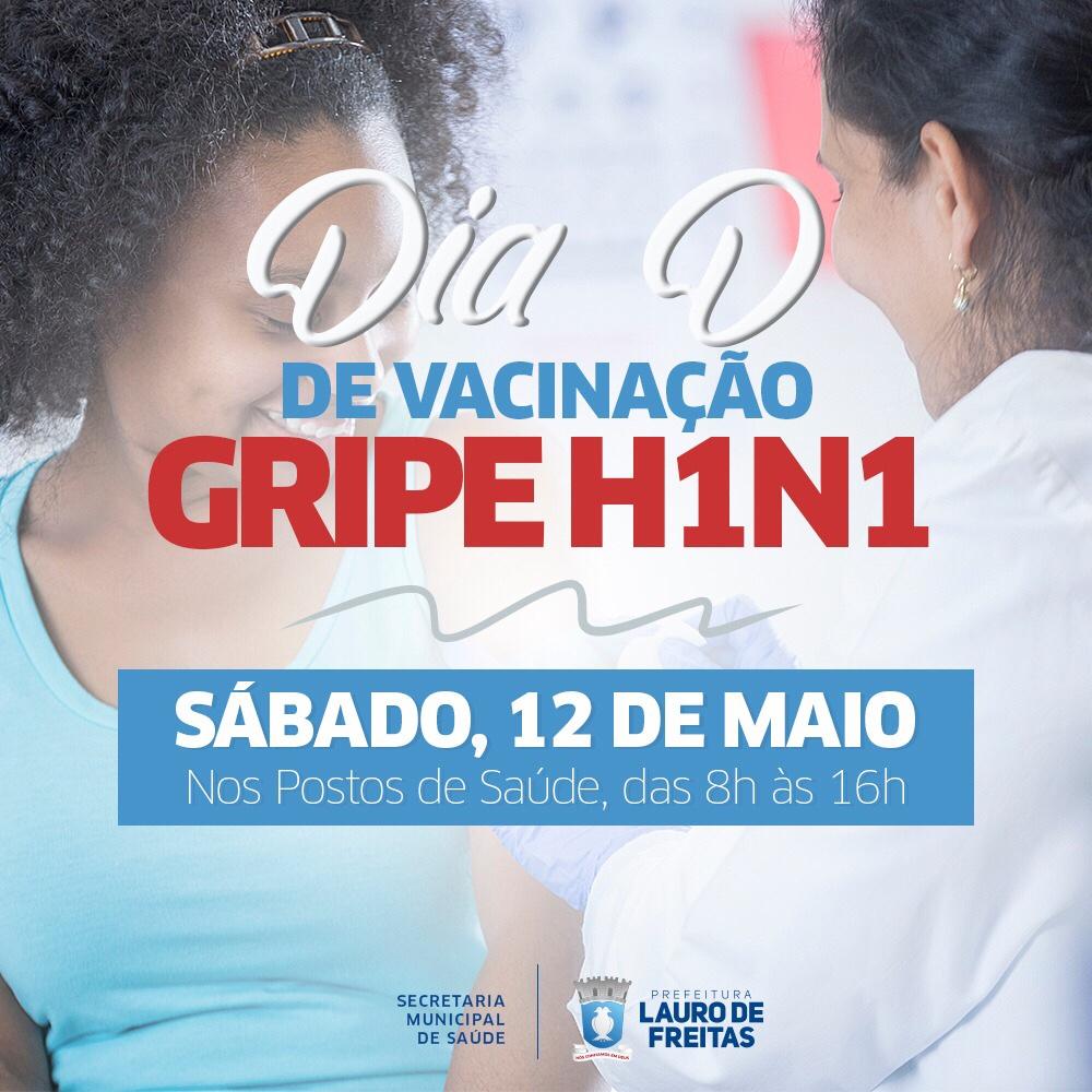 Lauro de Freitas terá 20 postos de vacinação no Dia D contra a H1N1