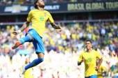 Com gols de Neymar e Firmino, Brasil vence a Croácia em jogo amistoso