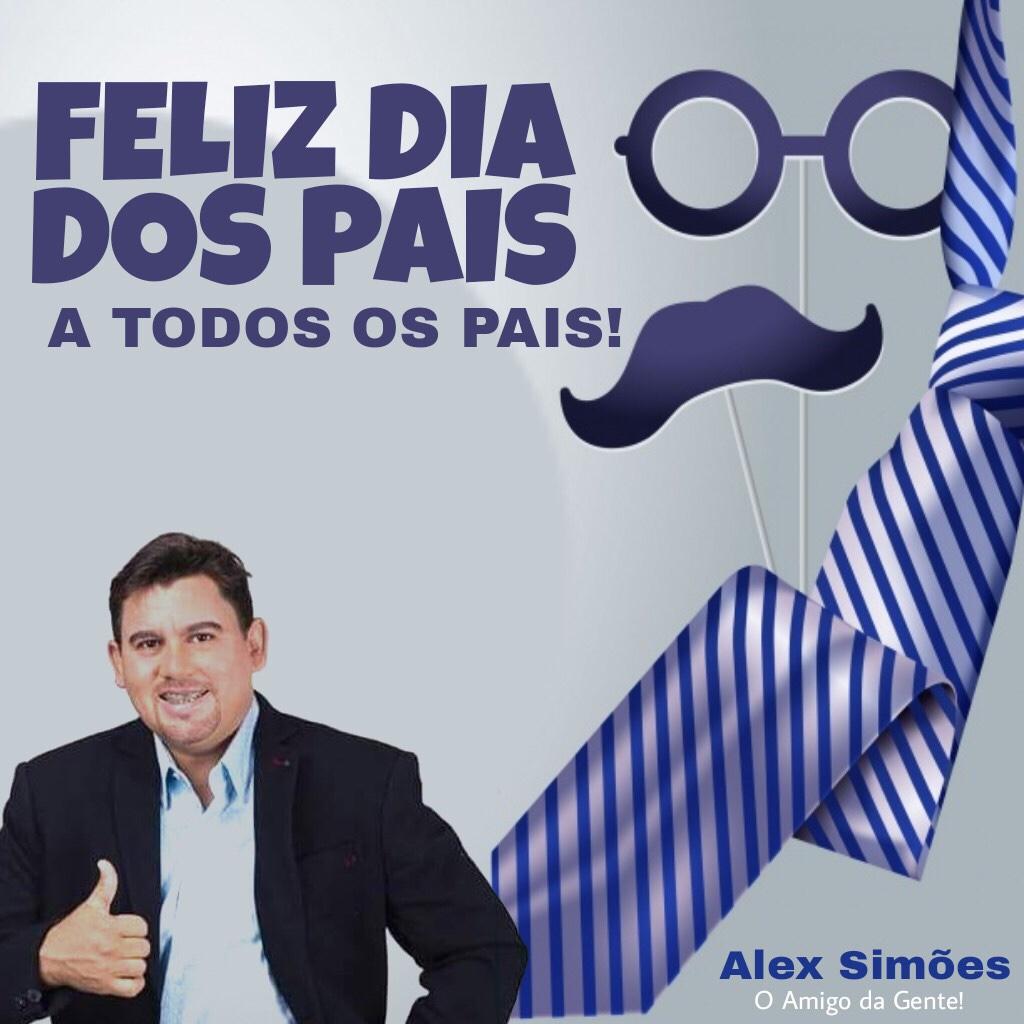 Alex Simões deseja um Feliz Dia dos Pais