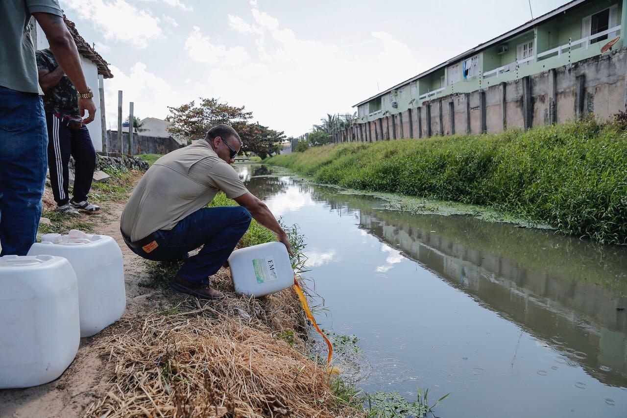 Rio Sapato, em Lauro de Freitas, começa a dar sinais de recuperação