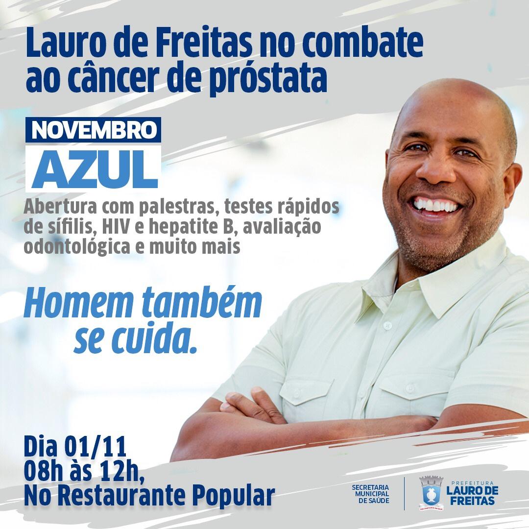 Lauro de Freitas abre Novembro Azul nesta quinta-feira (01/11)