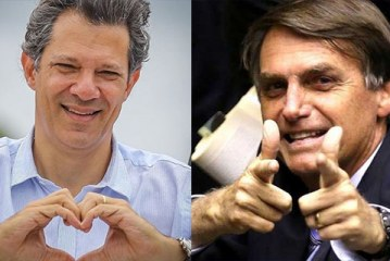 Pesquisa aponta empate entre Haddad e Bolsonaro pela primeira vez