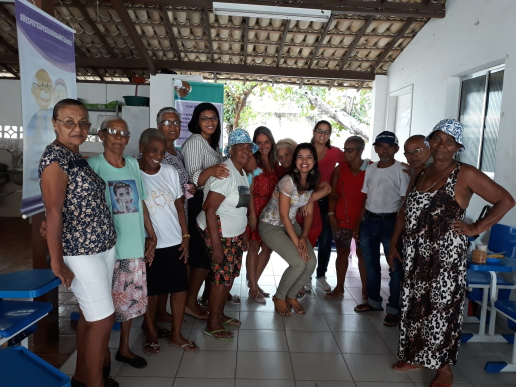 Semdesc em parceria com a Sesa realizaram atividades com idosos do município