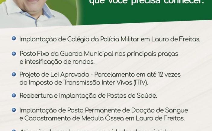 Vereador Isaac de Belchior faz balanço do seu segundo ano de mandato em Lauro de Freitas
