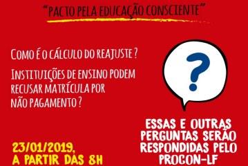 PROCON Lauro de Freitas aborda relação de consumo com as escolas