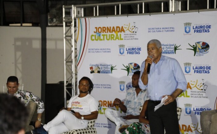 Debate sobre política cultural destaca Lauro de Freitas como cidade modelo