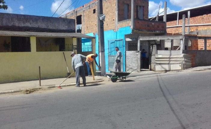 Mutirão de Limpeza: o Capelão está um brinco!Comunidade agradece à Prefeitura