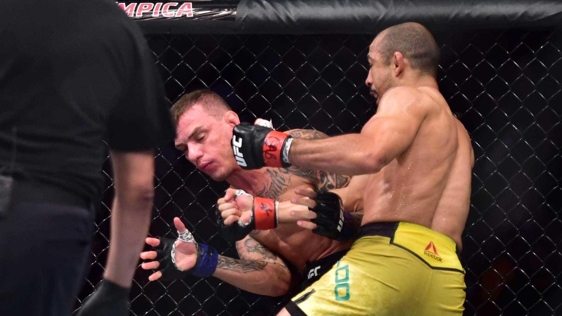 José Aldo atropela Renato Moicano no UFC Fortaleza