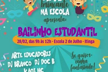 Bailinho Estudantil encerra Projeto Cidade Brincante nesta quinta-feira (28)